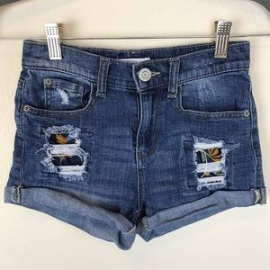 Distressed Blue Jean Shorts by Mudd!
